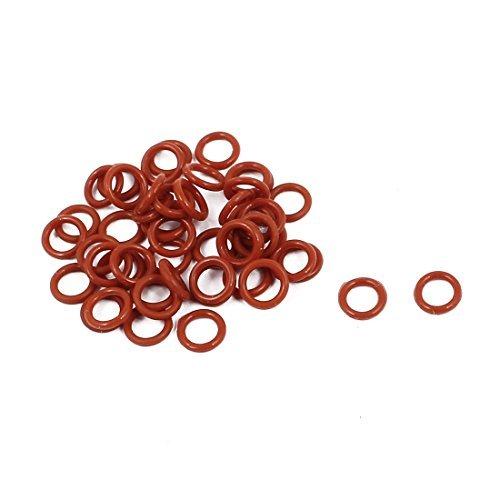 DealMux 50Pcs 6 mm x 1 mm Gummi-O-Ringe NBR Hitzebestä ndige Dichtring Grommets Rot DLM-B01N52W47S