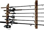 Rush Creek 37-0019 Log Cabin Style 6-Rod Holder