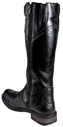 Kristofer Damen Stiefel Leder gefüttert / schlanke Waden - 2056 -