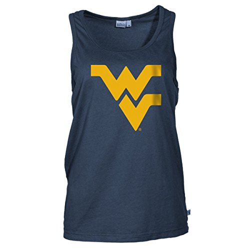 Velour V-neck Shirt - Official NCAA West Virginia University Mountaineers Hail WVU Women's Boyfriend Fit Fine Jersey V-Neck Sleeveless Premium Tank Top