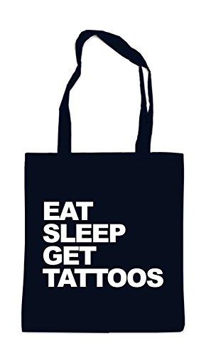 Eat Sleep Get Tattoos Bag Black