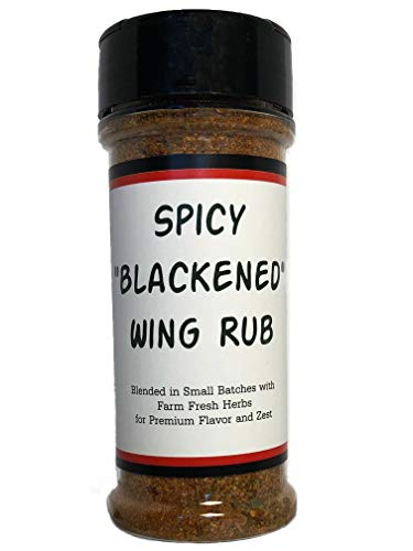 ''Blackened'' Wing Rub - Blended in Small Batches with Farm Fresh Herbs for Premium Flavor and Zest by Chicken Smitten