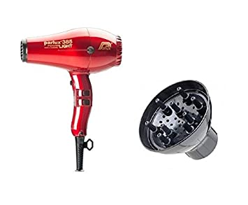 Parlux 385 rojo de cerámica iónica de luz difusor de secador de pelo y Parlux 385 Negro: Amazon.es: Salud y cuidado personal
