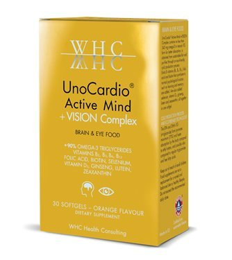 Unocardio Active Mind + Vision Complex, 30 Softgels by WHC Health Consulting