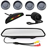 Car Parking Sensor Grey and 4.3 Inch LCD Mirror Monitor with Rear View Camera