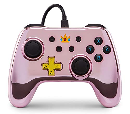 (Wired Controller for Nintendo Switch - Chrome Princess Peach (Super Mario))