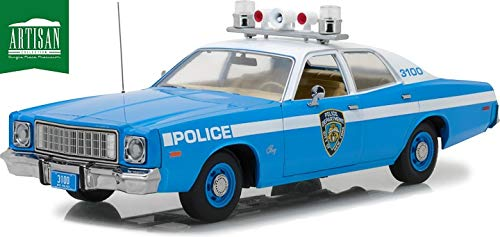 - New York Police Department - 1975 Plymouth Fury, Artisan Collection, Doors Open to Reveal Detailed Interior, Authentic Decoration, Officially Licensed, Chrome Accents, Real Rubber TIres, Tr