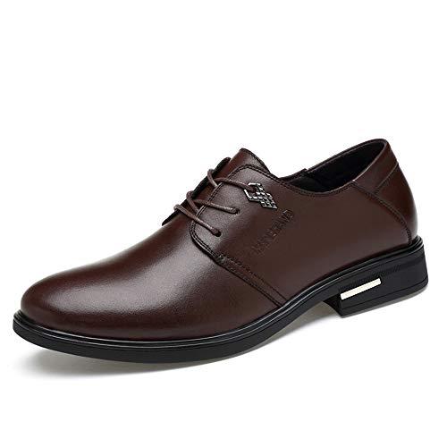 Style Oxford Classica New con Casual Men's da Classiche Business Marrone Cricket Scarpe Tonda Testa Semplice Scarpe IwSTF