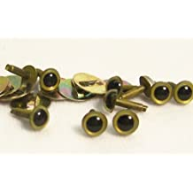 Sassy Bears 4.5mm Pearl Brass Safety Eyes for Bear, Doll, Puppet, Plush Animal and Craft - 10 Pairs