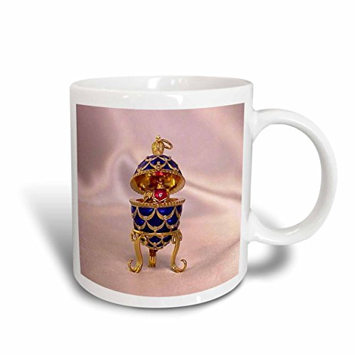 - 3dRose Picturing Pinecone Faberge Egg Mug, 15-Ounce