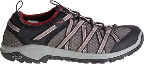 Chaco Mens Leather Flip Sandals - Chaco Men's Outcross Evo 2 Hiking Shoe, Quarry, 8 M US