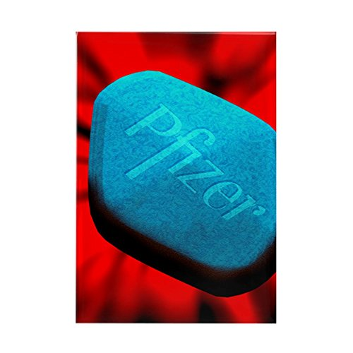 Sildenafil Citrate Women (CafePress - Computer Art Of A Blue Viagra Mal - Rectangle Magnet, 2