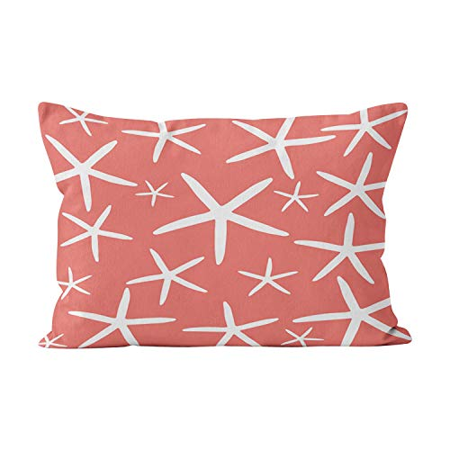 - Wesbin Hot Skinny Starfish Coral and White Hidden Zipper Home Decorative Rectangle Throw Pillow Cover Cushion Case Lumbar 12x24 Inch One Side Design Printed Pillowcase