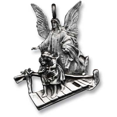 Angel Religious Charm (Cathedral Art KT101S Guardian Ball Chain Car Charm)