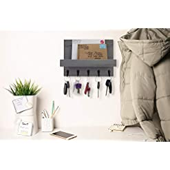Entryway Decorative Key and Mail Holder for Walls – Stylish Rack with Hangers – Simplify Beauty in Your Home