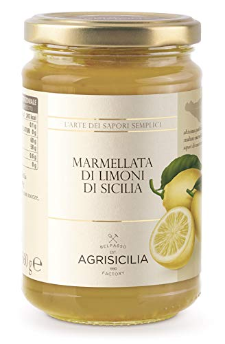 Jam Lemon - Sicilian Jam by Agrisicilia - Lemon Marmalade (12.7 ounce)
