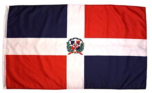 (High Supply Dominican Republic Flag 3x5 Feet National Flag Bandera De Republica Dominicana Outdoor Flag w/Brass Grommets)