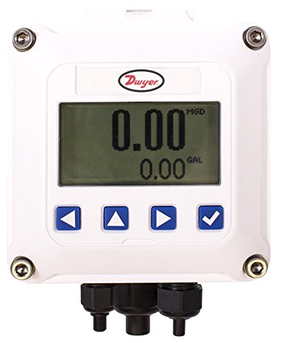 Dwyer RTI2-W Digital Rate/Total Indicator. Wall-Mounted, Loop Powered. Converts Pulse Signals from Compatible Flowmeters to Flow Rate and Total. Provides 4-20 mA Output Signal and High/Low Alarm. (Meter Loop Powered)