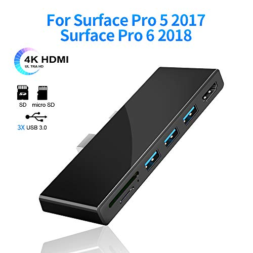 Lowest Prices! Surfacekit Docking Station for Surface Pro 5/ Pro 6, Read SD/Micro SD Card, USB Hub w...