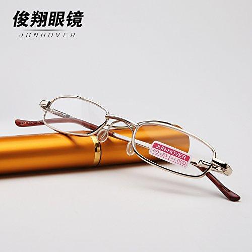 Resina ligero lente Gafas Full macho hembra autentica Resina Gafas ultra marca de grado de grado presbicia Frame présbitas gafas 150 bolígrafo 150 de multifuncional resina presbicia Tw0gO