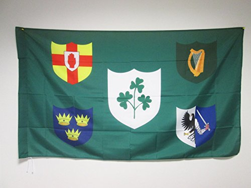 IRFU IRELAND RUGBY FLAG 2' x 3' for a pole - IRISH...