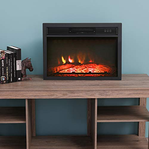 LOKATSE HOME 23 Inches Electric Fireplace Insert Heater Log with