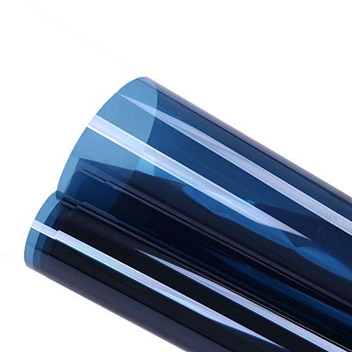 HOHO 19.6''x78.7'' Transparen Dark Blue Window Films Self-adhesive Decal Film Solar Anti UV Glass Tint for Buildings by HOHO