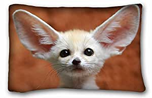 Generic Personalized Animal Custom Cotton & Polyester Soft Rectangle Pillow Case Cover 20x30 inches (One Side) suitable for Full-bed