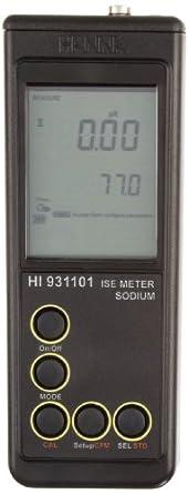 Hanna Instruments HI 931101N Salinity and Sodium Content Measurement Meter, 2.3 g/L to 23.0 g/L Range