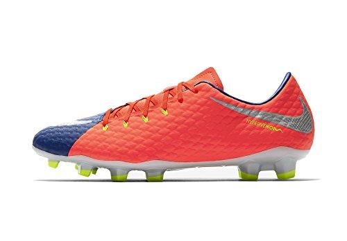 Nike Herren Hypervenom Phelon III FG Fußballschuh (Deep Royal Blue, Total Crimson)