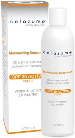 Celazome Moisturizing Sunscreen SPF 30 4ounce