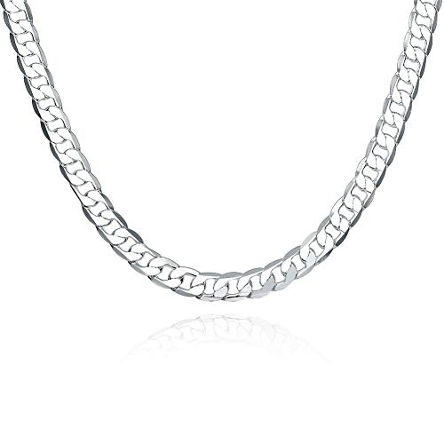 """- Womens 925Sterling Silver EP Fashion Charm Pendant Necklace 18"""" Chain CN034"""