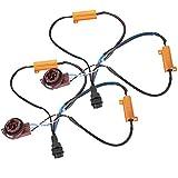 KIMISS 1 Pair of LED Light Load Resistor, ABS Wiring Harness Turn Signal Resistor for Bulb 31 57B 50W8RJ