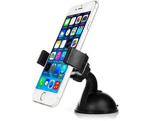 Mobility 1700 Series Universal Smart Phone Car Mount with Suction for Dashboard / Windshield - Cell Phone Holder Compatible with Virtually any Smartphone Including Apple iPhone, Samsung Galaxy & More