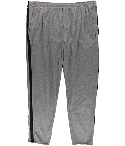 n's Big & Tall Knit Cotton Track Pant, Foster Grey Heather (3XLT) ()