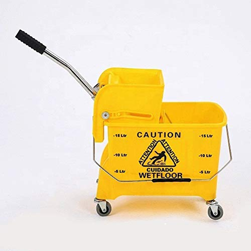 TARGET HYGIENE™ Heavy Duty Single Bucket Wringer Trolley (20 Liter, Yellow, Pack of 1) Price & Reviews