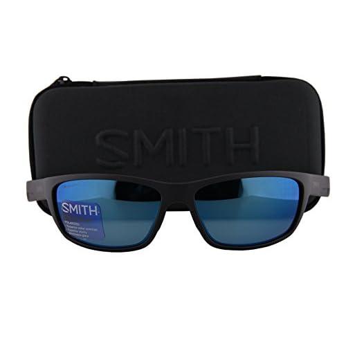 36b561f7f246 chic Smith Ridgewell Sunglasses Matte Black w/Polarized ChromaPop Blue  Mirror Lens DL5