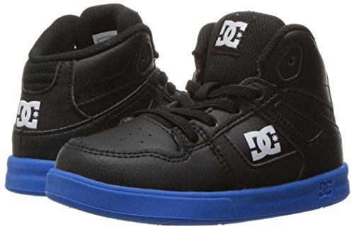DC Shoes DC Youth Rebound Skate Shoes Sneaker, Black/Royal, 6 M US Little Kid