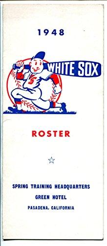Chicago White Sox Spring Training Roster-MLB-1948-team roster-FN