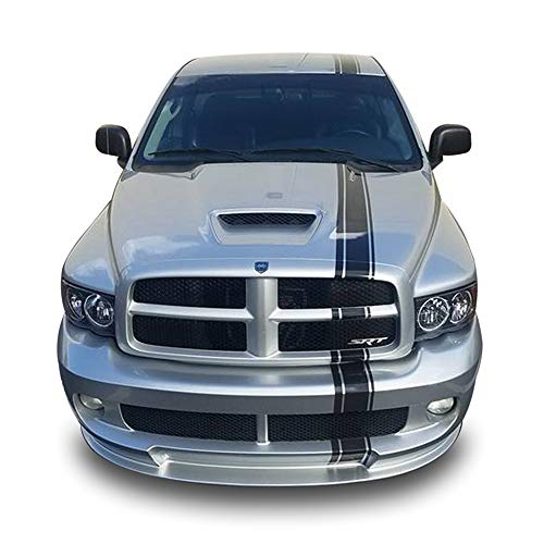 (Bubbles Designs Decal Sticker Graphic Front to Back Stripe Kit Compatible with Dodge Ram)