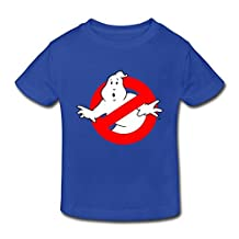 Age 2-6 Kids Toddler Ghostbusters Logo Slimer 3 Toddler Little Boys And Girls T Shirts RoyalBlue