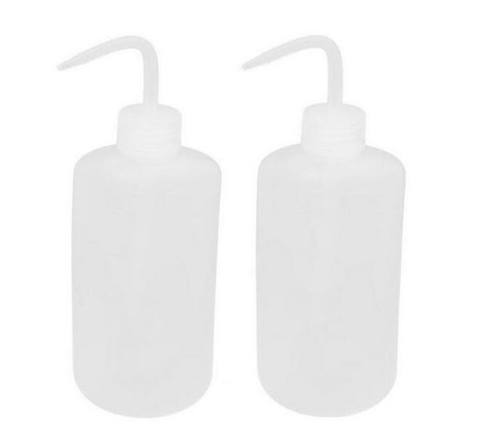 2PCS 150ml/250ml/500ml/1000ml Plastic Clear White Bent Tip Oil Liquid Storage Squeeze BottleL abel Tattoo Lab Tip Liquid Storage Wash Bottle Plant Flower Watering Cans Gardening Tools (1000ml/ 33.4oz)