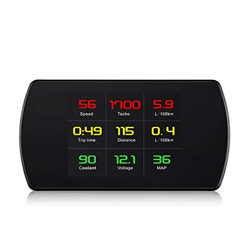 anyilon On-Board Computer OBD Smart Digital Meter Speed Voltage RPM Fuel Consumption Meter HD Heads Up Display Car HUD