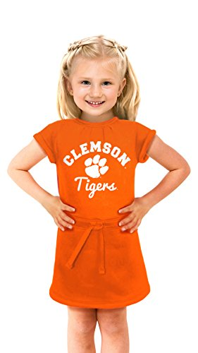 NCAA Clemson Tigers Girls Cold Night Dress, 4T, Orange