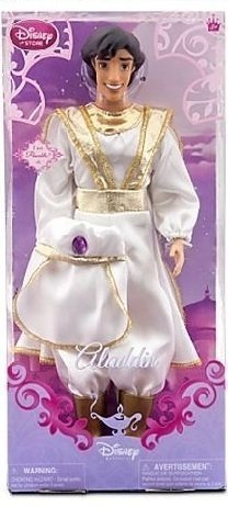 Disney Princess PRINCE ALADDIN Poseable Doll 12'' (White Satin Outfit)