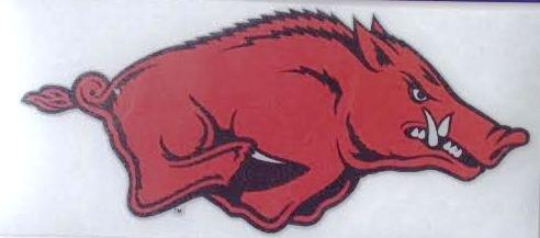 Arkansas Razorbacks反射車デカール – Running Hog Hawgs自動ウィンドウステッカー B017ZD9YO2  - -