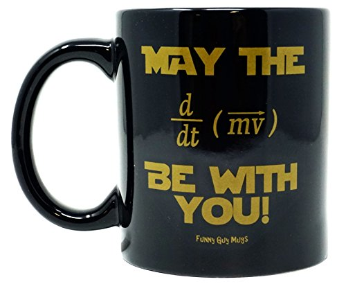 Funny Guy Mugs May The Force Be With You Equation Ceramic Coffee Mug  Black  11 Ounce