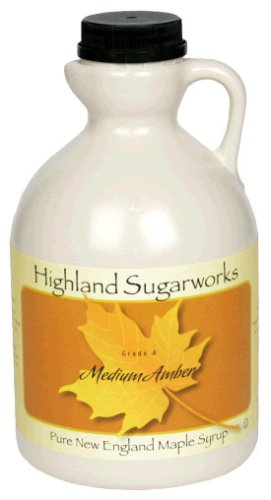 Highland Sugarworks Maple Syrup, Medium Amber, 32-Ounce Jug