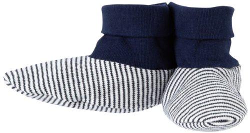 Pure Baby Unisex-Baby Newborn Booties, Navy Stripe, Medium