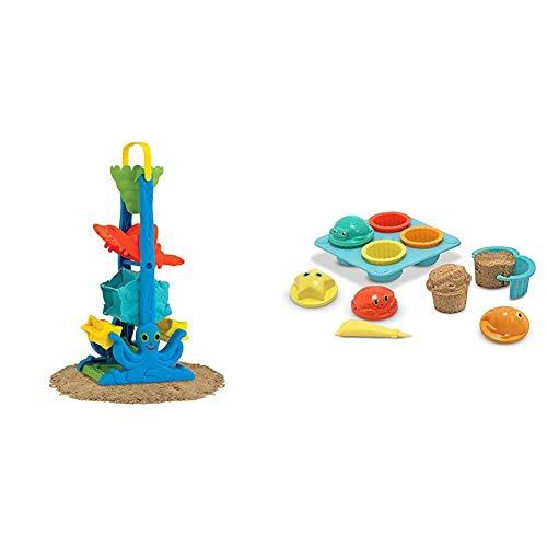Melissa & Doug Seaside Sidekicks Funnel Fun,White & Sunny Patch Seaside Sidekicks Sand Cupcake Play Set